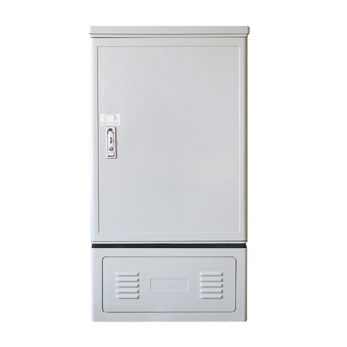 MT-1302 Double side double doors 96 core outdoor standing type fibers SMC fiber optic cross connection cabinet
