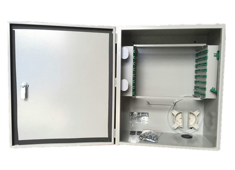 MT-1301 Fiber Optic 96 Core Fully Loaded Wall Mount Type Outdoor SPCC Telecom Cabinet