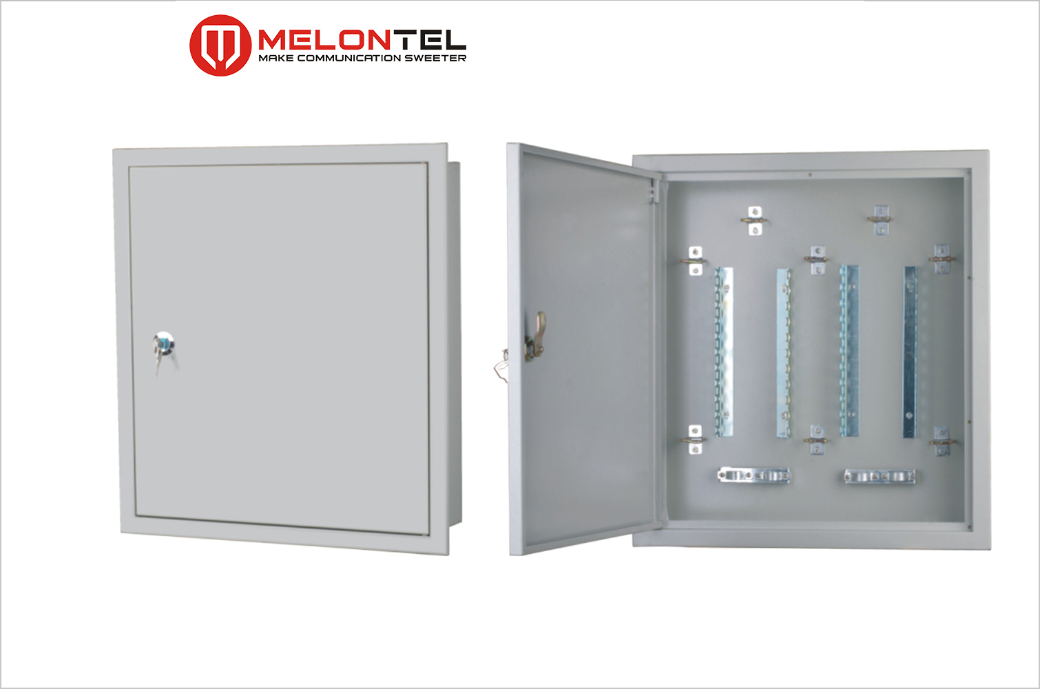 MT-2354 indoor 100 pair distribution box with lock