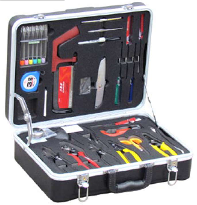 MT-8409 FTTH hand tool sets including microscope and cleaning tool Fiber optic Cleaning Kit