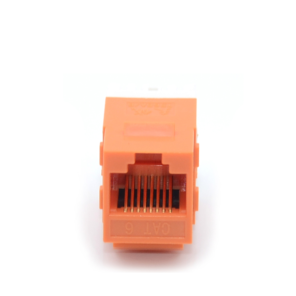 MT-5114 180 Degree RJ45 Female Connector Krone IDC UTP CAT6 Keystone Jack