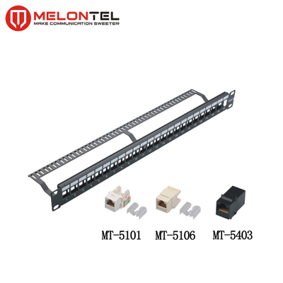 MT-4201 24 Port Unloaded Blank Patch Panel with Cable Manager