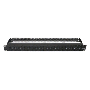 MT-4206 Patch Panel 48 Ports CAT6 UTP with Dustproof Door 0.5U
