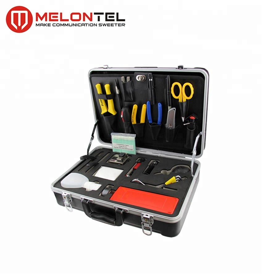 MT-8404 High Quality Customizable Fiber Optic Splicing Tools Kit With Optical Fiber Cable Stripper