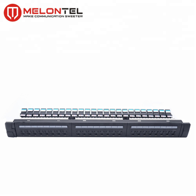 MT-4024 19 Inch Type 24 Port CAT6 CAT5e LED Patch Panel
