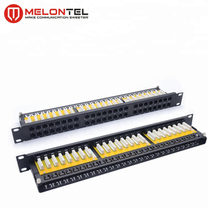 MT-4017 19 Inch 1U 48 Port CAT5e CAT6 Patch Panel With Dual IDC