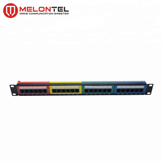 MT-4011 19 Inch 1U 24 Port Patch Panel Patch Panel With Color Plate CAT.5E CAT.6