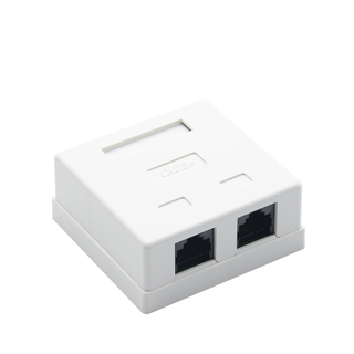 MT-5826 Network Box Dual Port RJ45 Surface Wall Mount Box