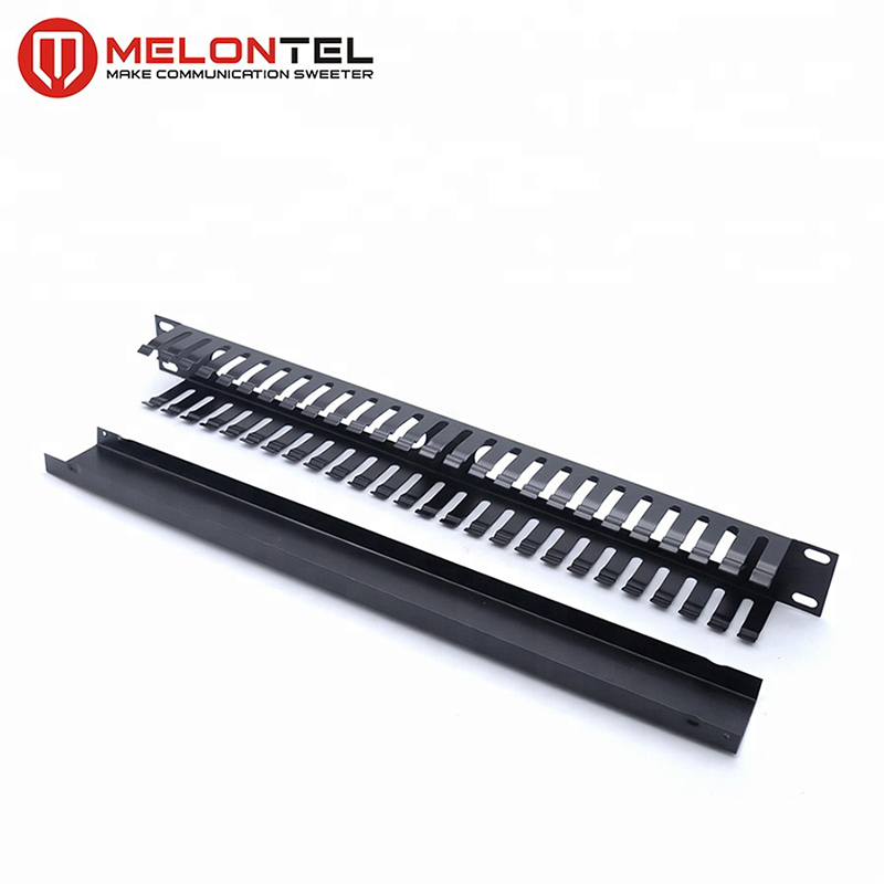 MT-4464 1U 19 Inch Cable Organizer Cable Management With Metal Cover Cable Manager